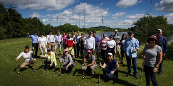 fishing event oil & gas, corporate incentive fishing day, trout fishing aberdeenshire
