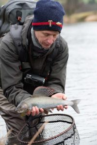 river Tweed, grayling fishing, winter fishing, fly fishing, grayling techniques, Orvis fishing guides