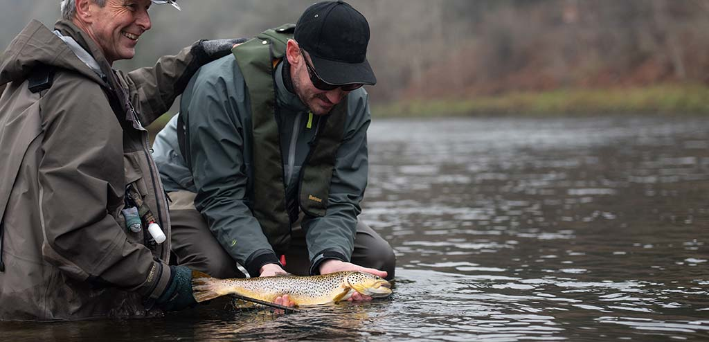 dry fly, fly fishing, scotland, trout fishing, rivers in Scotland, River Tweed, Orvis Helios Rod, fishing guide, wild brown trout, best rivers, near Edinburgh, near Glasgow