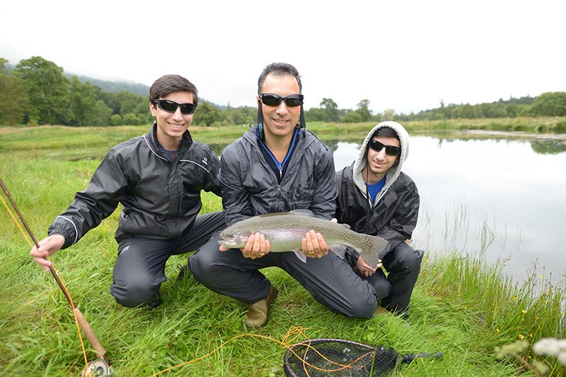 Father and Son, Fishing, Trip, Scotland, Trout, Fly Fishing, near Glasgow, Near Edinburgh, Private fishing loch, Luxury fishing, Fishing Guide