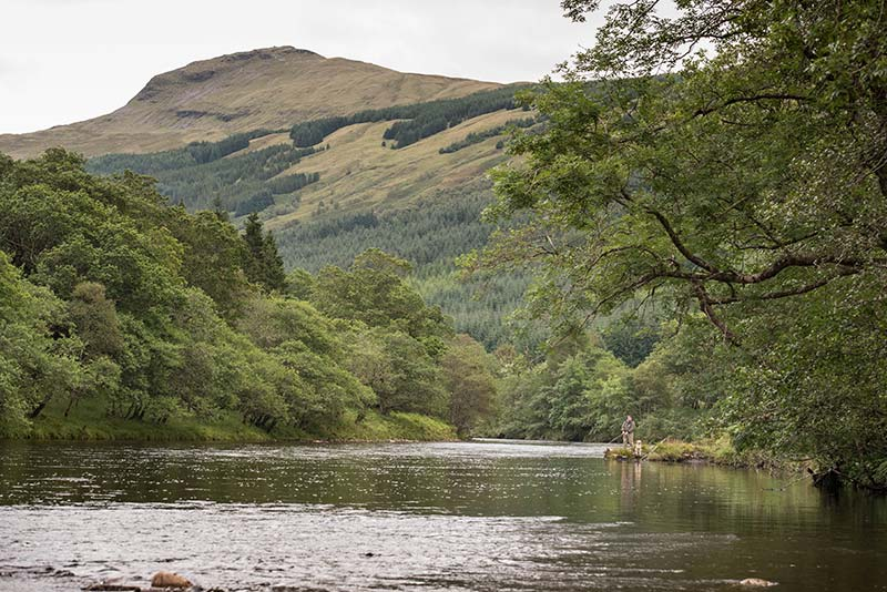 river orchy, salmon fishing, fishing guide, spey casting tuition, fly fishing near Loch Lomond, Orvis UK