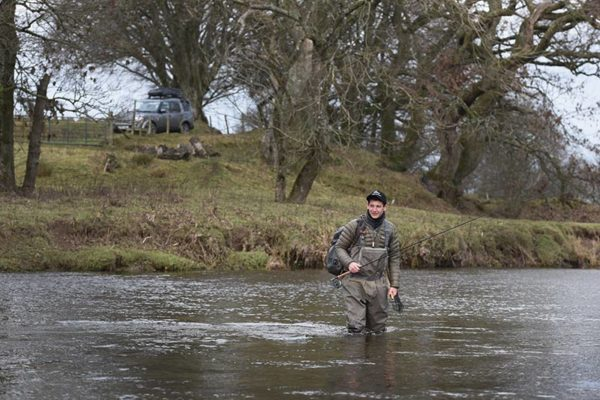 river Annan, grayling fishing, Scotland, winter fishing, best grayling fishing, river wading, techniques, nymph fishing, Orvis clearwater,