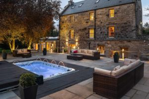 luxury, luxuryscotland, accommodation, exclusive, buyout, Edinburgh, hot tub, Spa bath, Riverside propertiy, converted Mill, River Tweed