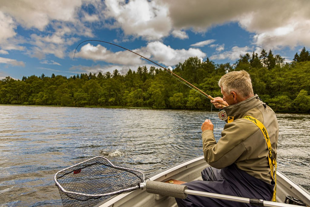 rainbow trout, catch and release, trout fishing, fly fishing, lake of Menteith