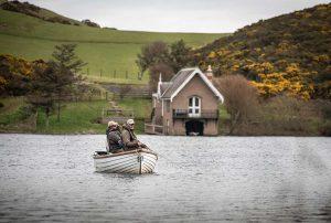 Coldingham Loch, Trout Fishing, boat fishing, Berwickshire, Whinney, Sage rods, Orvis, near Edinburgh, St Abbs