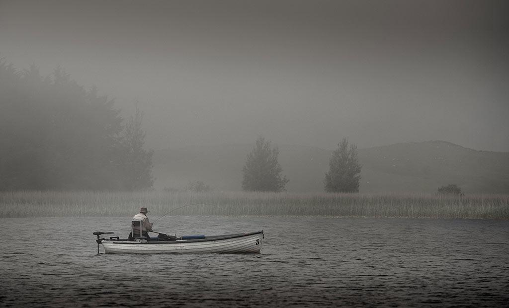 Fog, Mist, Coldingham Loch, Trout Fishing, Berwickshire, Whinney, Sage rods, Orvis, near Edinburgh, St Abbs